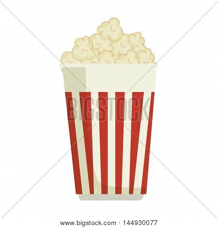 pop corn snack fast food striped bucket vector illustration