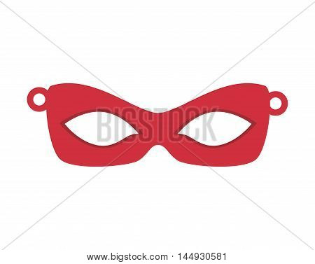 mask eye face masquerade accessory mystery decoration vector illustration