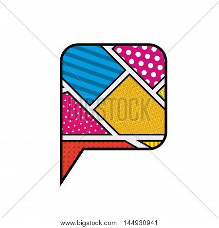 bubble retro communication frames icon. Colorful isolated and Flat design. Vector illustration