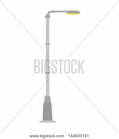 street light lamp urban city element post vector illustration