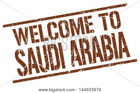 welcome to Saudi Arabia. stamp. grunge square sign