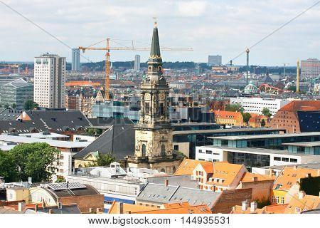 Copenhagen City in Denmark - Scandinavia .