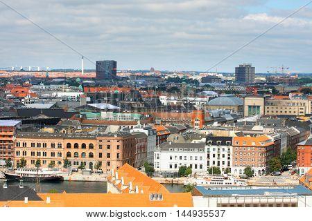 landscape of Copenhagen City Denmark Scandinavia .