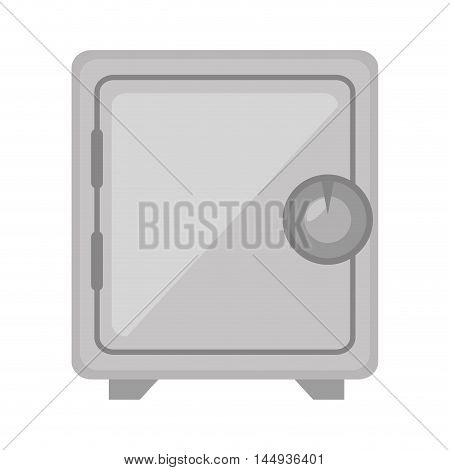 safe box money value security objects locked vector illustration