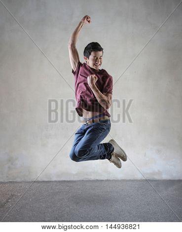 Jumping guy