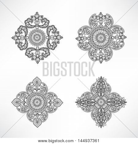 Arabic ornament background Oriental ethnic mandala amulet Abstract floral geometric pattern Geometric circle element for holiday kaleidoscope medallion indian arabic design