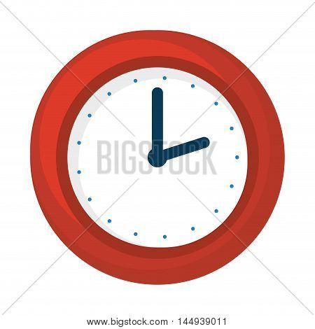 watch clock time device ticking measure vector illustration