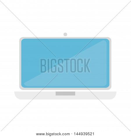 laptop computer electronic notebook technology electronic device vector illustration