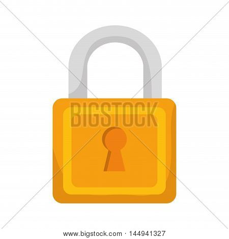 lock security object keyhole metal safety equipment vector illustration