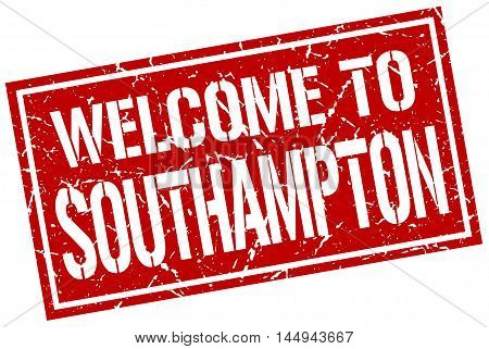 welcome to Southampton. stamp. grunge square sign