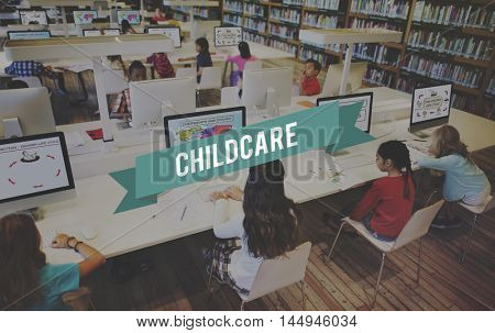 Childcare Day Care Parenting Protection Children Concept