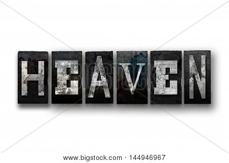 Heaven Concept Isolated Letterpress Type