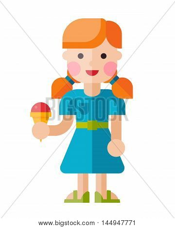 Illustration Of A Joyful Girl