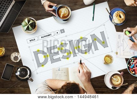 Design Draft Creative Ideas Concept