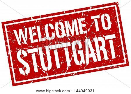 welcome to Stuttgart. stamp. grunge square sign