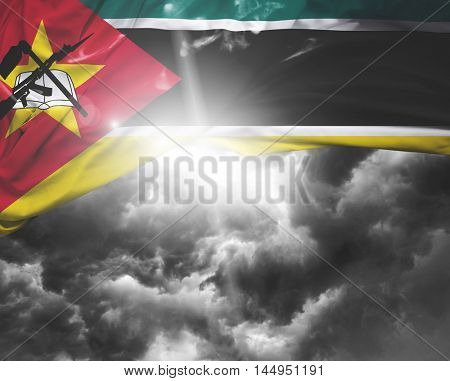 Mozambique flag on a bad day