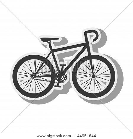 bicycle bike vehicle transport sport activity silhouette vector illustration