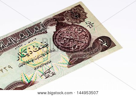 0.5 Iraqi dinar bank note. Iraqi dinar is the national currency of Iraq