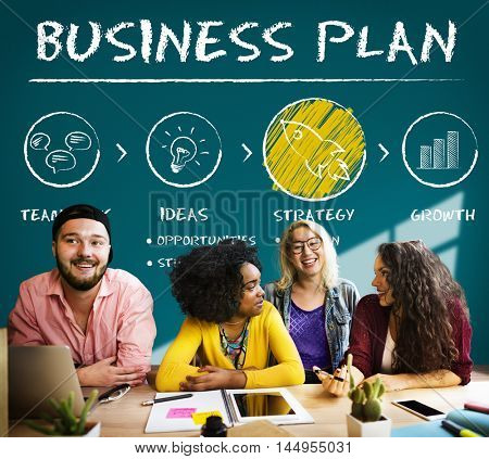 Business Plan Growth Strategy Concept
