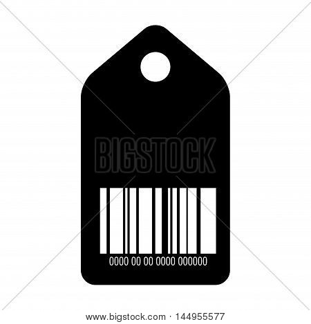 barcode with serial number data information price tag scanner vector illustration
