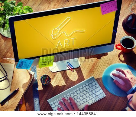Art Brush Painting Creativity Imagination Skills Concept