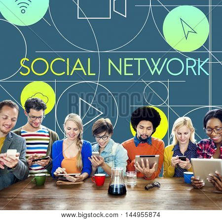 Social Network Internet Multimedia Concept