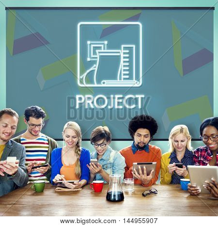 Project Management Strategy Collaboration Concept