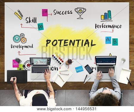 Improvement Potential Excellence Diagram Graphic Concept
