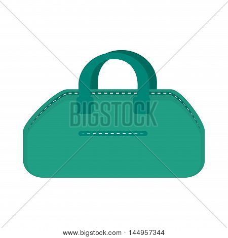 gym bag accessory exercise and training equipment vector illustration