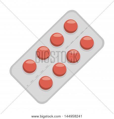 pill medicine vitamin prescription medical pharmacy vector illustration