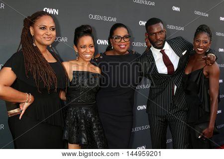 LOS ANGELES - AUG 29:  Ava DuVernay, Dawn-Lyen Gardner, Oprah Winfrey, Kofi Siriboe, Rutina Wesley at the Premiere of