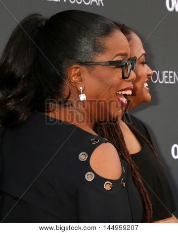 LOS ANGELES - AUG 29:  Oprah Winfrey, Ava DuVernay at the Premiere Of OWN's