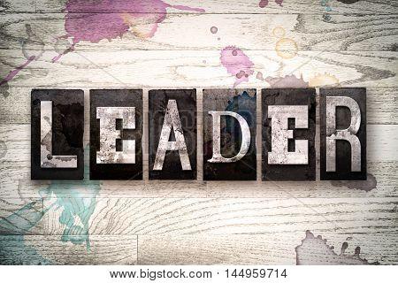 Leader Concept Metal Letterpress Type