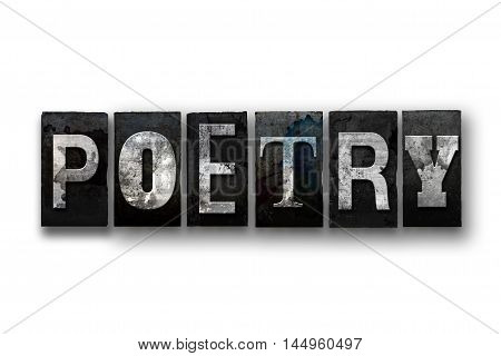 Poetry Concept Isolated Letterpress Type