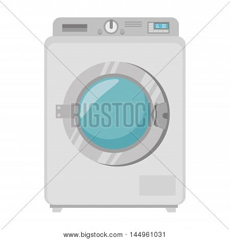 washing machine laundry techonology device clean clothes wash vector illustration