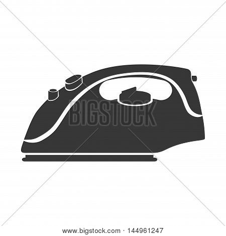 iron steam hot clothing electric housework device vector illustration