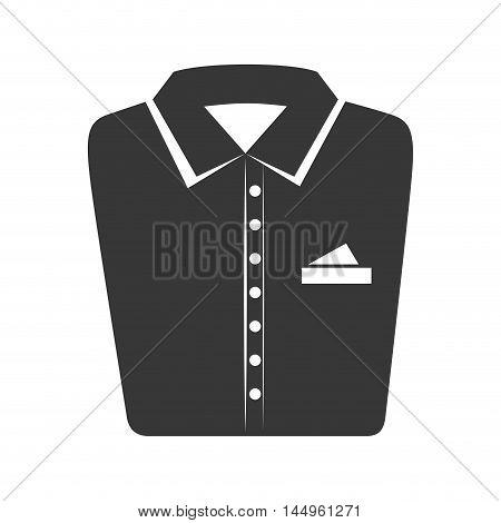 shirt folded elegant clothes laundry clothing silhouette vector illustration