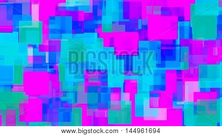 pink blue and green square abstract background