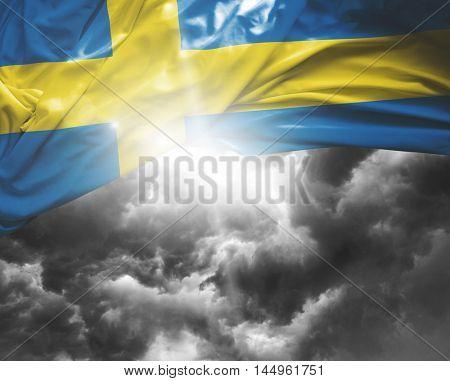 Sweden flag on a bad day