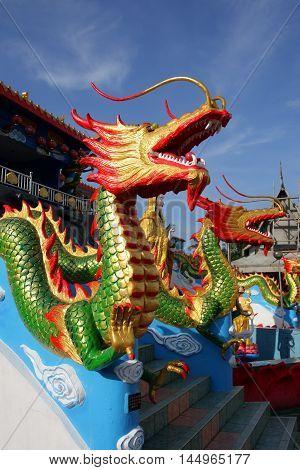 Wat Mai Suvankhiri (dragon Boat Temple), Kelantan, Malaysia..