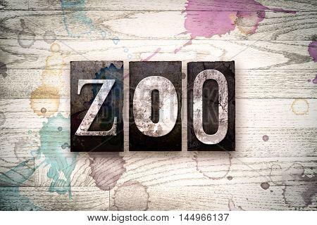 Zoo Concept Metal Letterpress Type