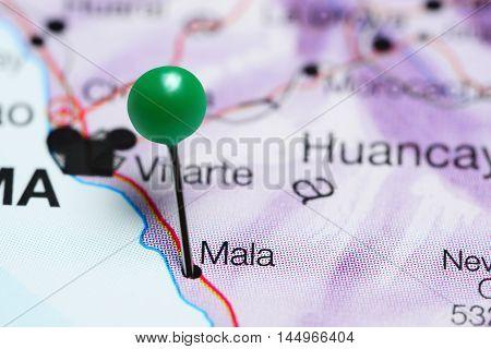 Mala pinned on a map of Peru