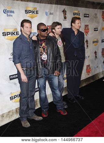 Bradley Cooper, Liam Neeson, Sharlton Copley and Quinton Jackson at the 2010 Guys Choice Awards held at the Sony Pictures Studios in Culver City, USA on June 5, 2010.