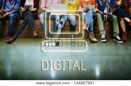 Media Technology College Networking Concept