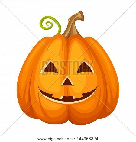 Vector Jack-O-Lantern (Halloween pumpkin) isolated on a white background.