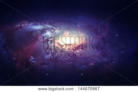 Galaxy in space, beauty of universe, black hole. Elements furnished by NASA