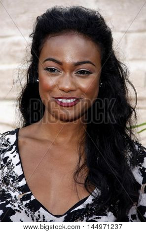 Tatyana Ali at the Los Angeles premiere of 'The Karate Kid' held at the Mann Village Theater in Westwood, USA on June 7, 2010.
