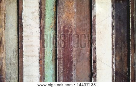 Vintage colorful wood background - retro style.