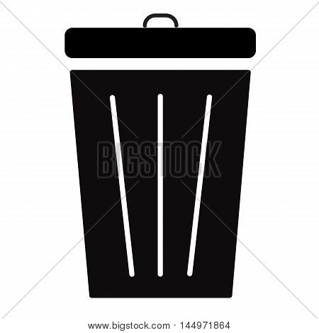 Trash icon, Bin icon, Trash icon on white background
