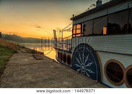 Ship In River